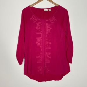 Chico's Embroidered Blouse